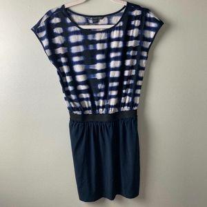 Armani Exchange Blue & White Dress Small